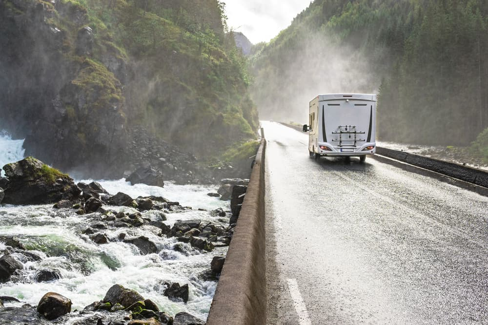 RV in wet conditions