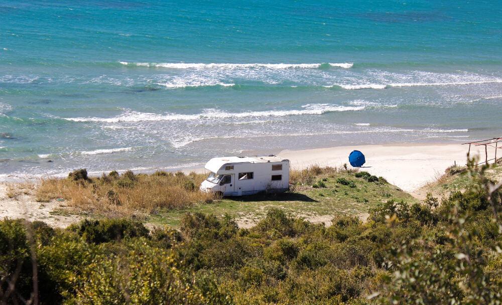 RV Beach Camping