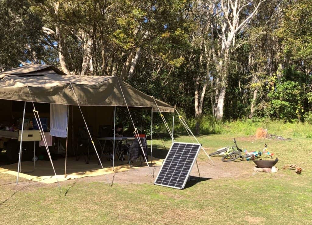 Solar panel for camping