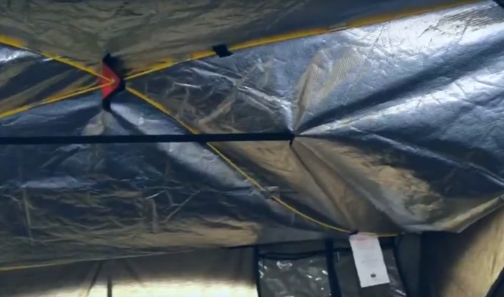 Tent top insulation