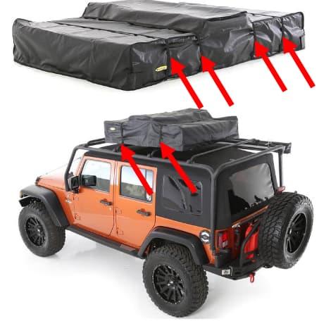 Smittybilt Overlander Rooftop Tent Installation